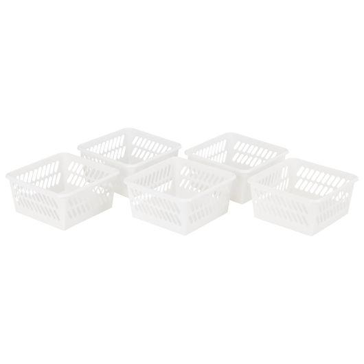 Plast Team - Minikurv XS hvid 5-pak