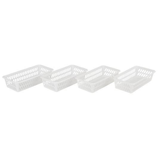 Plast Team - Minikurv S hvid 4-pak