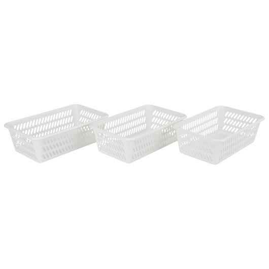 Plast Team - Minikurv M hvid 3-pak