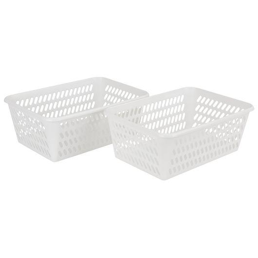 Plast Team - Minikurv L hvid 2-pak