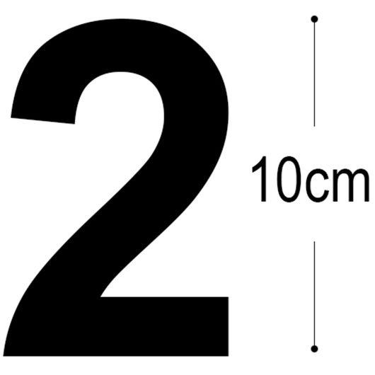 Allux - Folietal 2 - sort 10 cm