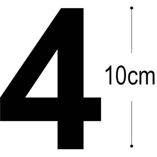 Allux -Folietal 4 - sort 10 cm