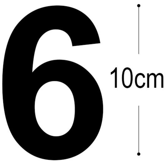 Allux - Folietal 6 - sort 10 cm