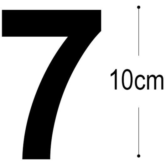 Allux - Folietal 7 - sort 10 cm