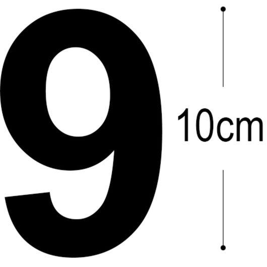 Allux - Folietal 9 - sort 10 cm