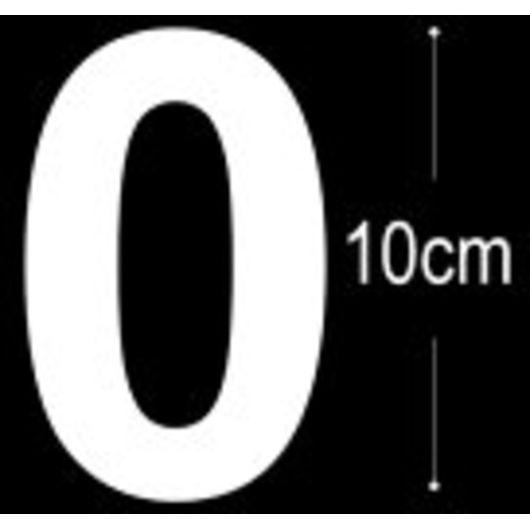 Allux - Folietal 0 - hvid 10 cm