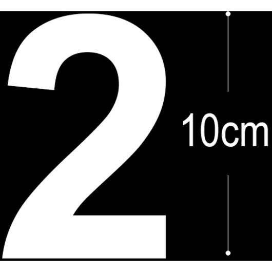 Allux - Folietal 2 - hvid 10 cm