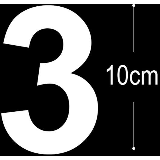 Allux - Folietal 3 - hvid 10 cm