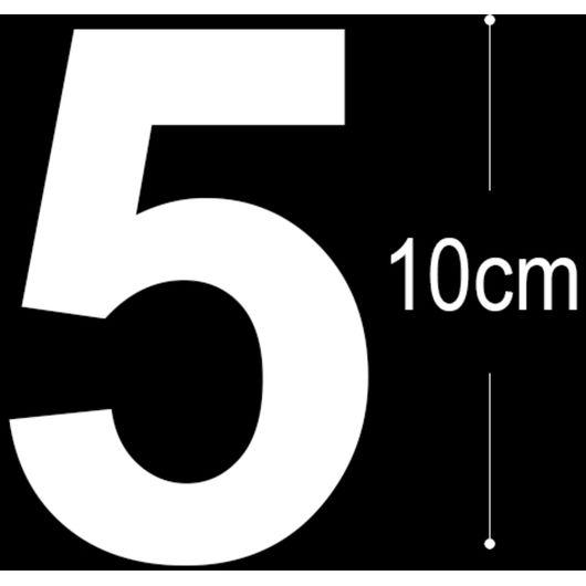 Allux - Folietal 5 - hvid 10 cm