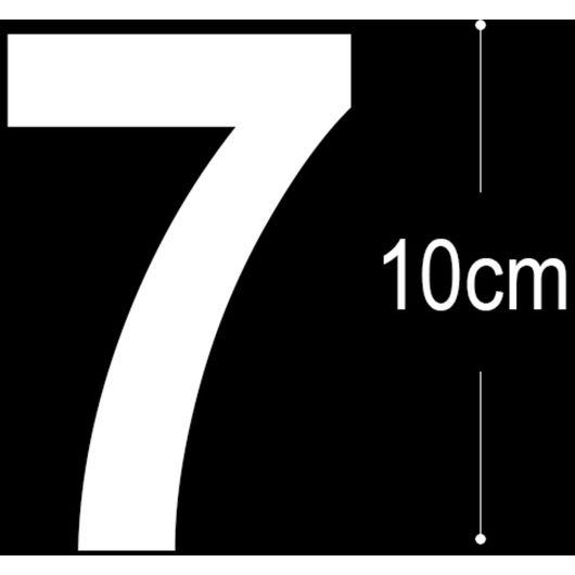 Allux - Folietal 7 - hvid 10 cm