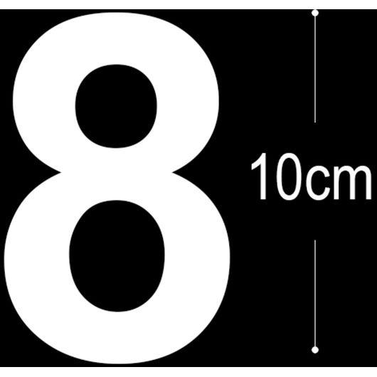 Allux - Folietal 8 - hvid 10 cm