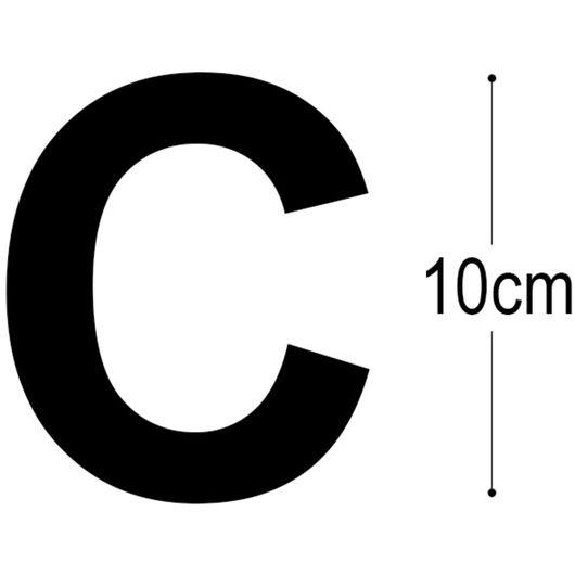 Allux - Foliebogstav C - sort 10 cm