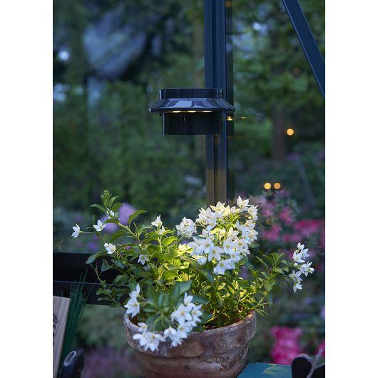 Solar LED-lampe til drivhus