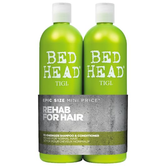Bed Head Re-Energize Duo - shampoo og conditioner