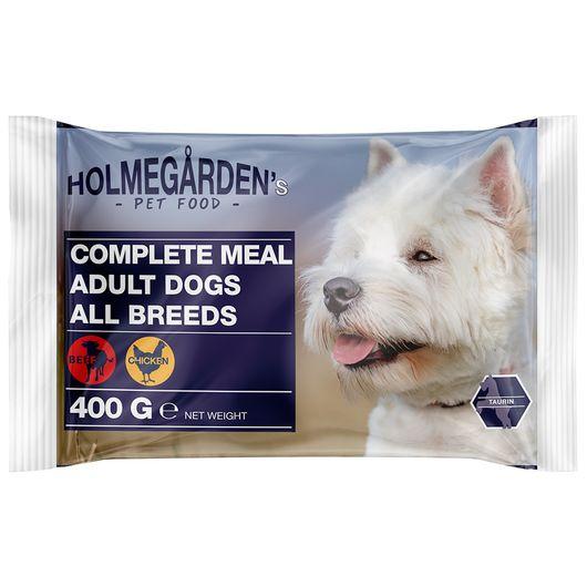 Holmegården's - Menuboks hund 4 x 100 g
