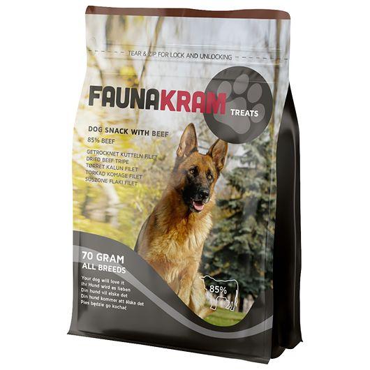 Faunakram hundesnack med oksekallun - 70 g