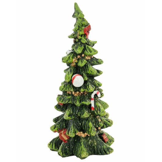 Juletræ i keramik H. 15 cm- assorterede design