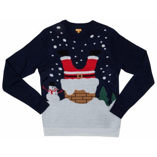 Julesweater XS - blå julemand