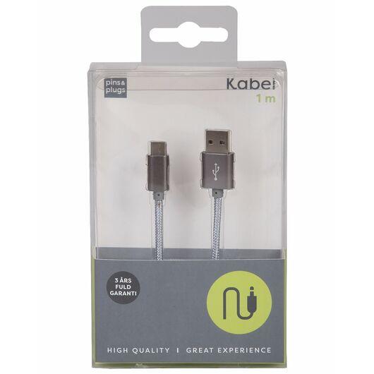 USB-A til USB-C kabel - 1 meter