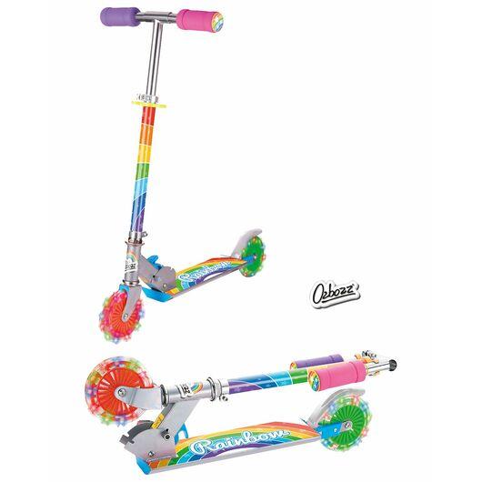 Løbehjul med lysende hjul - Tie dye