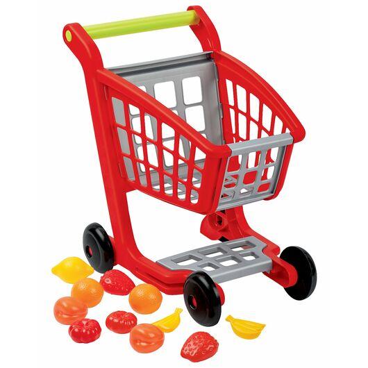 Indkøbsvogn med varer