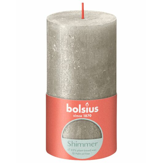 bolsius - Bloklys shimmer H.13 cm - Champagne