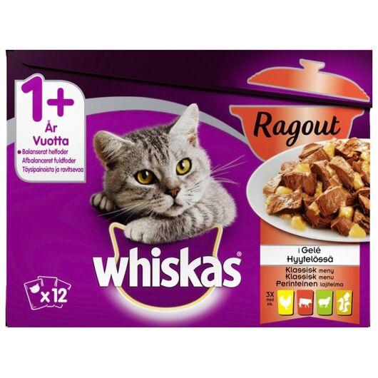 Whiskas - Ragout menu i gele 12 x 85 g