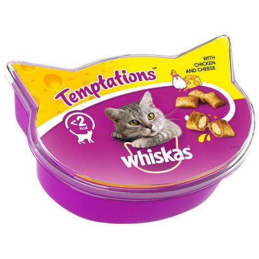 Whiskas - Kattesnack Temptations kylling/ost 60 g
