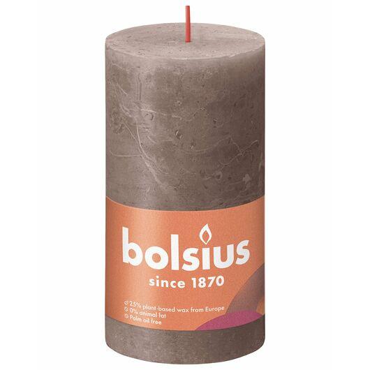 bolsius - Bloklys shine - Rustic taupe