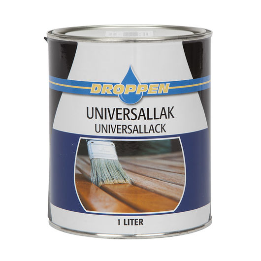 Droppen universal lak klar 1 L
