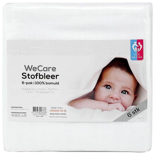 We Care Kids - Stofbleer 6-pak - hvid