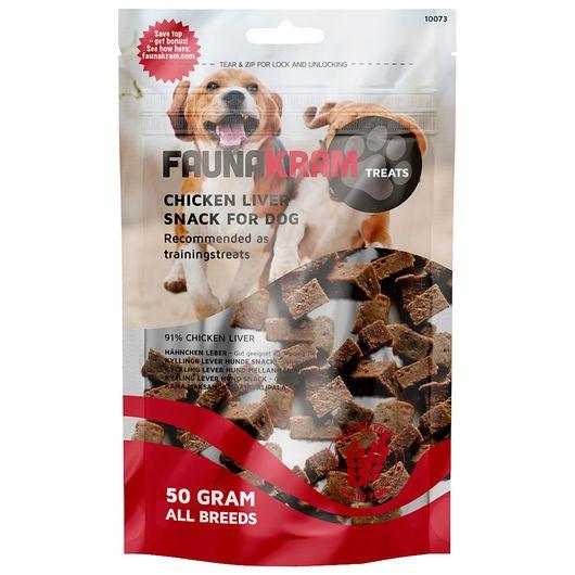 Hundesnack med kyllinglever 50 g