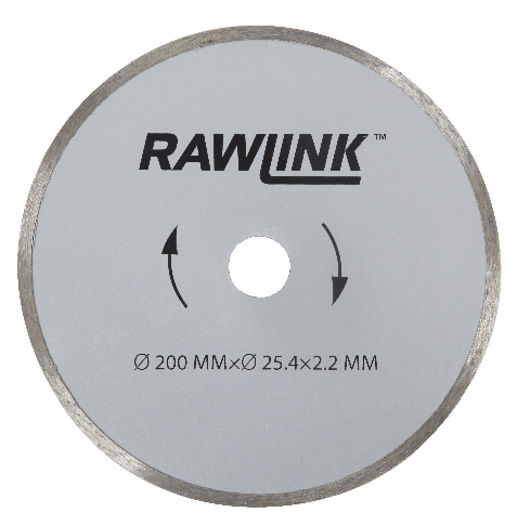 Rawlink - Diamantskæreskive flise Ø. 200 mm