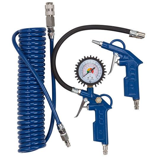 Blæse & pumpesæt blå 3 dele