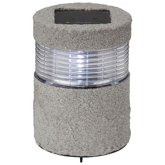 Solcellelampe med LED H. 24 cm