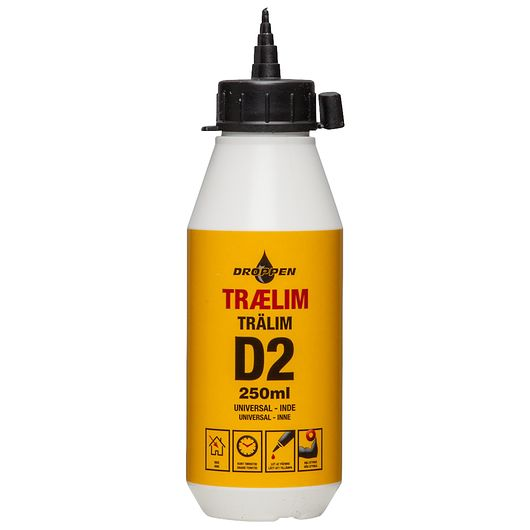 Droppen - Trælim D2 inde 250 ml