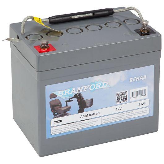 BRANFORD - REHAB-batteri til el-scooter 35Ah 12V +venstre