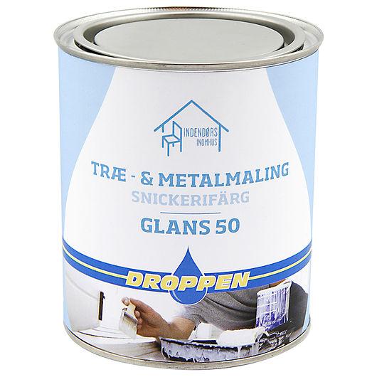 Droppen - Træ- og metalmaling glans 50 sort 0,75 L