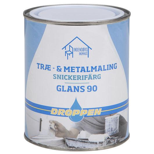 Droppen træ- og metalmaling glans 90 hvid 0,75 L