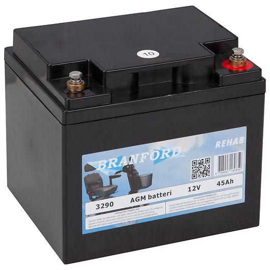 BRANFORD - REHAB-batteri til el-scooter 45 Ah 12V