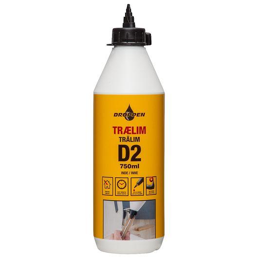 Droppen - Trælim D2 inde 750 ml