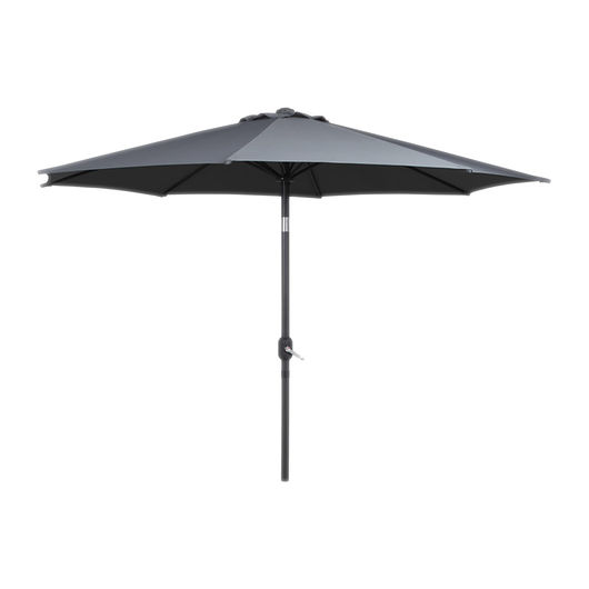 Parasol med tilt - Ø. 3 m grå