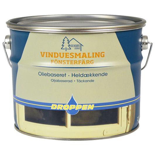 Droppen vinduemaling hvid 2,5 L
