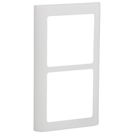 FUGA design ramme SOFT 63 2 x 1 modul hvid
