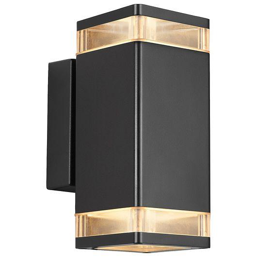 Nordlux - Væglampe Elm - sort dobbeltlys