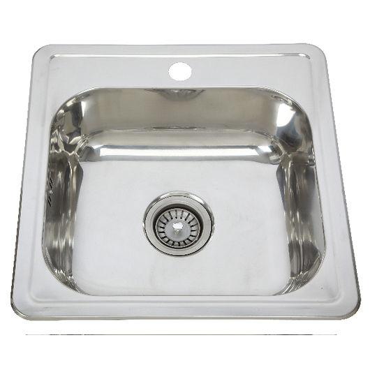 Firkantet vask med bagkant 40,6 x 35,6 cm