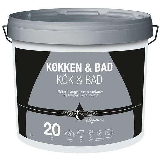 Droppen Elegance - Køkken/bad glans20 mode hvid 5L