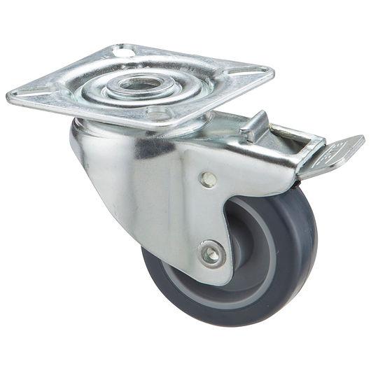 Tente - Hjul 50 mm - drej med bremse