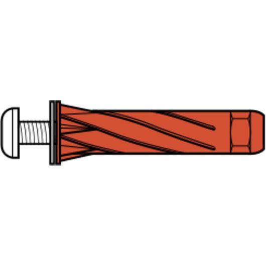 Tillex - Plugs UHJ 5 x 65 mm - rød 25 stk.