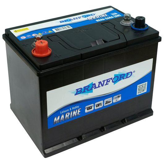 BRANFORD - Marinebatteri 80 Ah +venstre